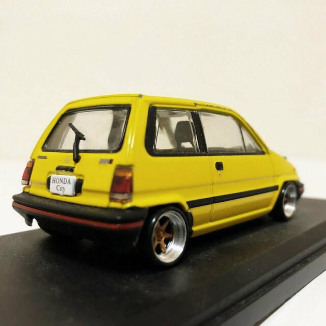 国産名車/'81 Hondaホンダ Cityシティ 1/43 カスタム < 自動車/バイク