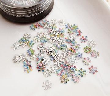 虹色雪の結晶フレーク/ホロ/封入パーツ