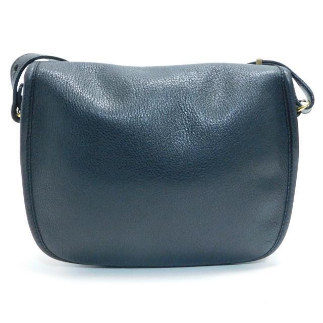 美品Longchampロンシャン ショルダーバッグ レザー黒 正規品 < ブランドの