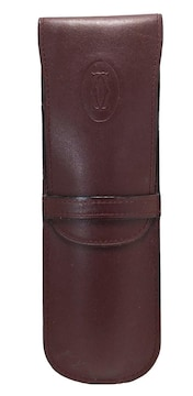 正規カルティエペンケースマストボルドー筆記用具ケースレ