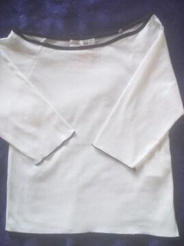 未使用!!白の五分袖シャツ