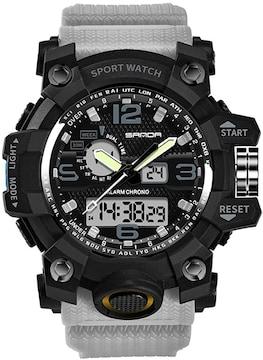 デジタル 腕時計 クォーツ アナデジ表示 多機能 カレンダー
