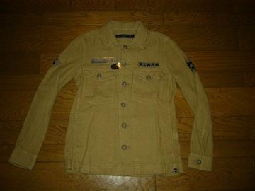 新品roarロアーヘンプカスタムシャツジャケット1麻ワッペンROEN