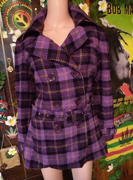 大人℃-ute(*´艸`)大きいサイズ☆17ABR/17号☆チェック柄コート