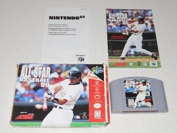 N64★ALL-STAR BASEBALL 99 海外版 端子清掃済み