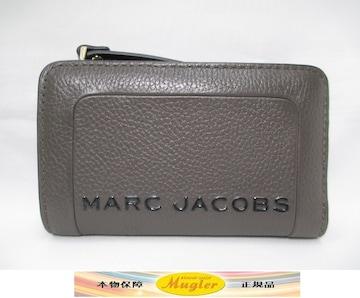 未使用 マークジェイコブス 二つ折り財布 茶 L字ファスナー財布
