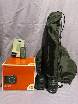 SONYα700+レンズ2個+他セット送料込み