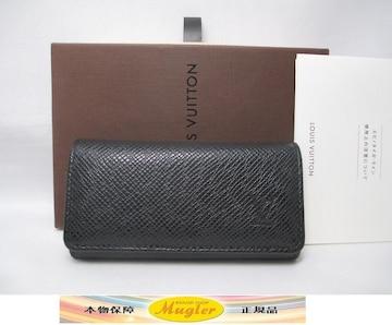 超美品 ルイヴィトン タイガ 4連キーケース 黒(アルドワーズ