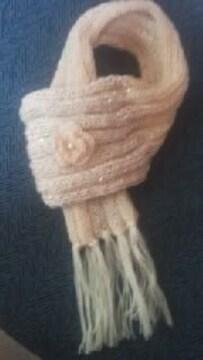 E47 送込 手編み スパンコール〓パール付お花モチーフ