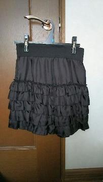 ☆エフデのフリル黒スカート☆