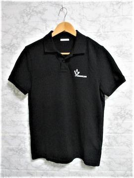 ☆MONCLER モンクレール ロゴ ポロシャツ 半袖/メンズ/S/ブラック☆国内正規品