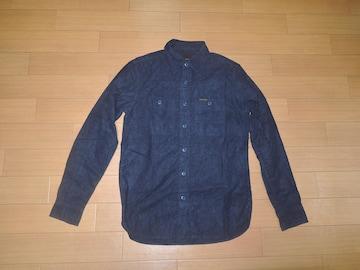 ヒステリックグラマーHYSTERIC GLAMOURワークシャツS紺ネル系