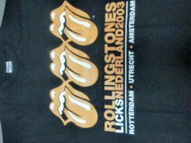 送料無料 ローリングストーンズ 2003ツアー Tシャツ 新品 三連オレンジベロ  < タレントグッズの