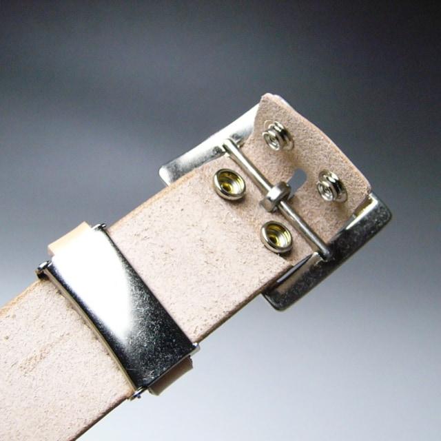 栃木レザー |ベルト ヌメ革 ロング フリー 120 ナチュラル < 男性ファッションの