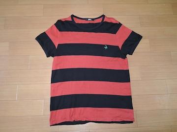 ヒステリックグラマーHYSTERIC GLAMOURボーダーTシャツL赤黒