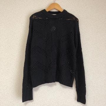 ジーユー新品 透かし編みニット セーター★