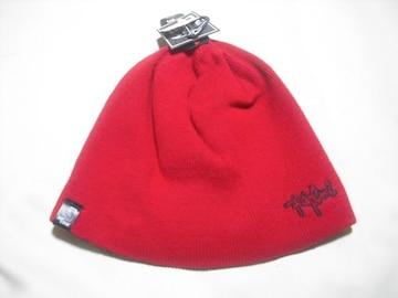 mb745 男 RIP CURLリップカール リバーシブル ニット帽 赤