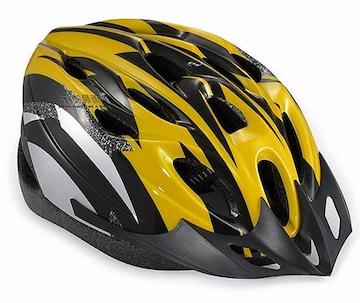 自転車用 サイクリング ヘルメット イエロー&ブラック