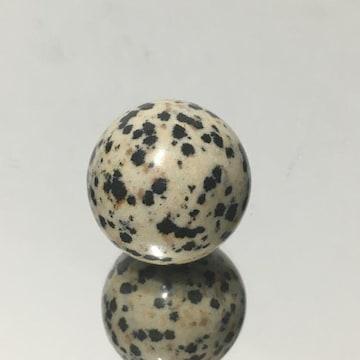 《置物No.298》天然石ダルメシアンジャスパー スフィア 丸玉