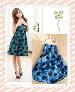 秋新作ドレス ワンピース Sサイズ 緑