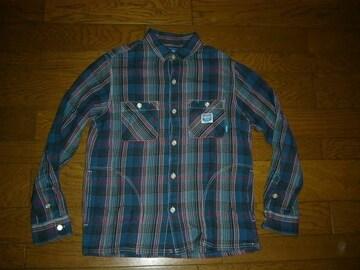 NEIGHBORHOODネイバーフッドチェックシャツM青系W.D/C
