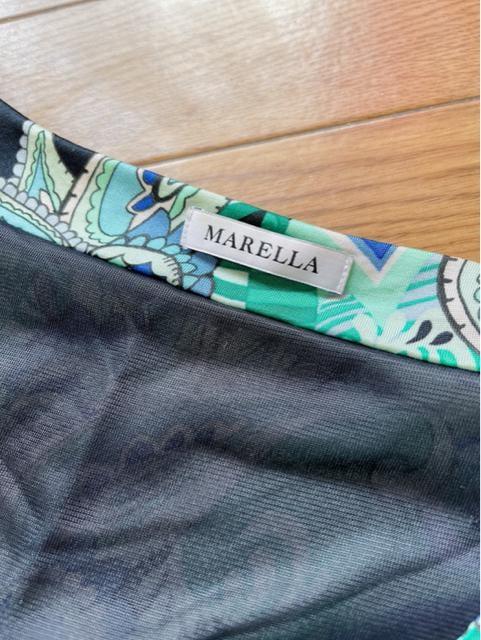 Y132 美品★ マレーラ マックスマーラ ドレス ワンピース 七分袖 < ブランドの