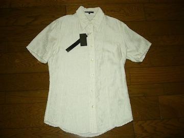 新品SHELLACシェラックペイズリー柄ストライプシャツ46ドレス