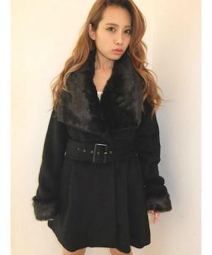 即完売★リゼクシー★2wayレディーファーコート ブラック/M 新品タグ付 未開封