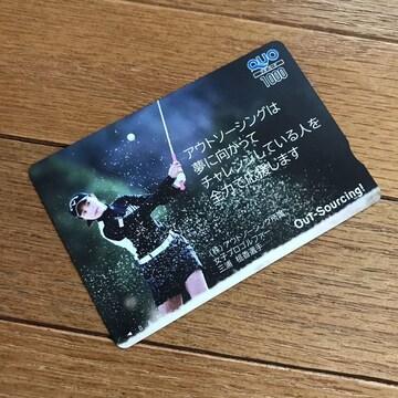 クオカードAA☆三浦桃香 ゴルフ 女子プロゴルファー 1枚