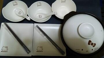 ハローキティ 土鍋食器セット 新品 非売品