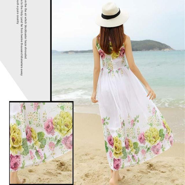 TW19即決 新品 花柄 ワンピース 白 ◆送料無料 ピンキー イング 好きに < 女性ファッションの