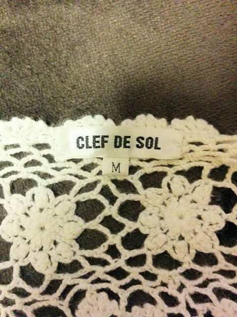 CLEF DE SOL あみあみベスト < 女性ファッションの