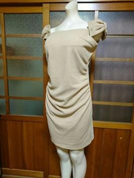 Lovey オフショル 肩リボン ミニドレス