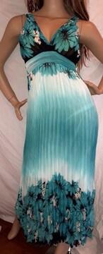 リゾート 花柄 ロング ワンピース ドレス