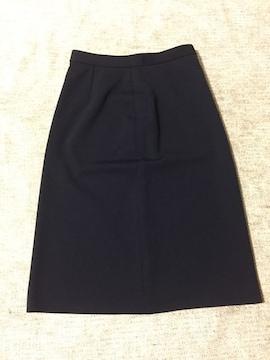 191.新品☆ひざ丈タイトスカート☆紺/ネイビー☆サイズL