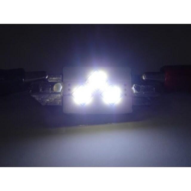 激照! T10×37SMD3連LEDナンバー灯 < 自動車/バイク