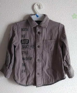 90★WASK★リバーシブルシャツ★ガーゼシャツ★