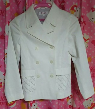 ELLE[エル]美品!コート!少し小さめサイズ140センチ!ホワイト