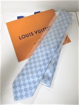 ☆LOUIS VUITTON ルイヴィトン ダミエ柄 ネクタイ 細ネクタイ☆美品