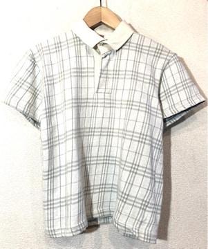 DEDALION■ポロシャツ■ラガーシャツ■チェック■英国製■白灰