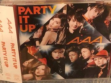 超レア!☆AAA/PARTY IT UP☆初回盤/CD+DVD☆トレカ付(西島隆弘)