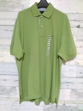 Tommyトミーワンポイント ロゴビッグ ポロシャツグリーン