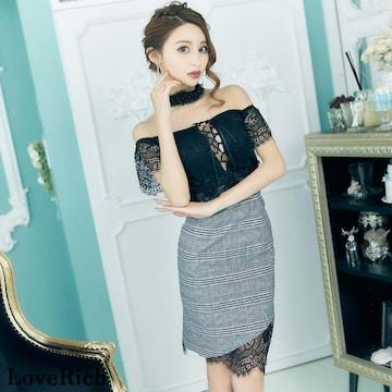 オフショルダーデザイン ミニワンピ 衣装 キャバ ドレス