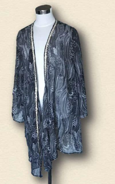 新品グレーガウンカーディガン6L大きいサイズ  < 女性ファッションの