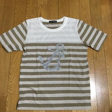 横しま+柄 Tシャツ