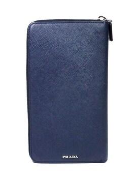 正規プラダ長財布ラウンドファスナーレーシングカー濃紺