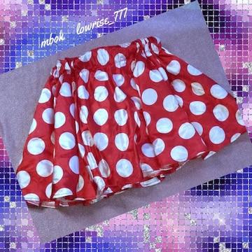 ディズニー/光沢艶々サテンチュール/ふんわりミニスカート