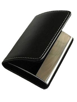 名刺入れ 牛革 カードケース ブラック