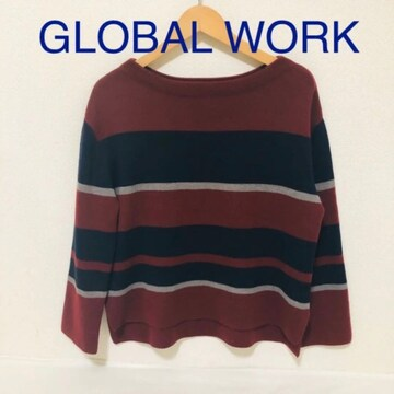 #GLOBAL WORK ボーダーニット