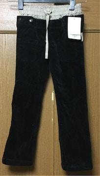 新品110cmあったかコーデュロイ黒パンツ☆ウェストらくらく